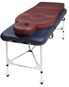 Pregnancy cushion on massage table