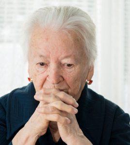 Distressed older woman
